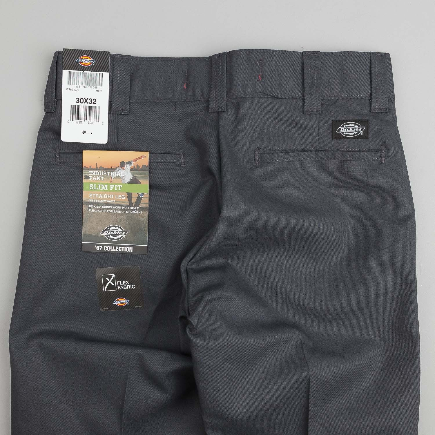 Dickies 894 Industrial Work Trousers - Charcoal Grey