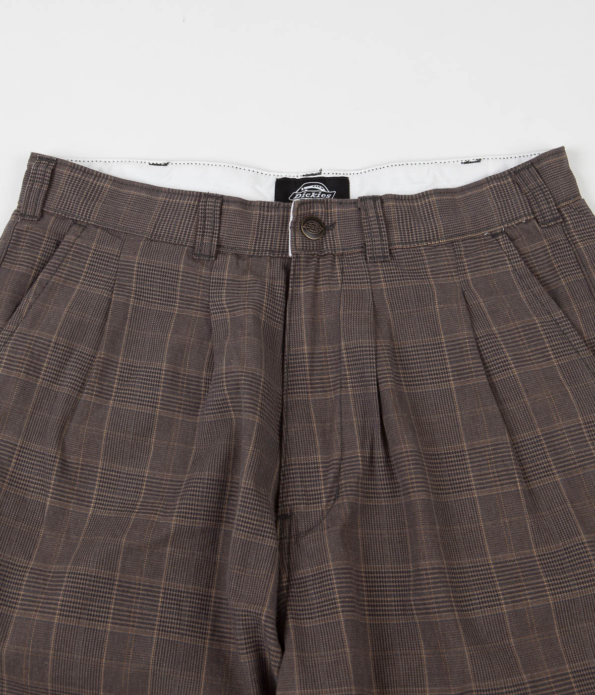Dickies Artemus Pleated Trousers - Dark Brown