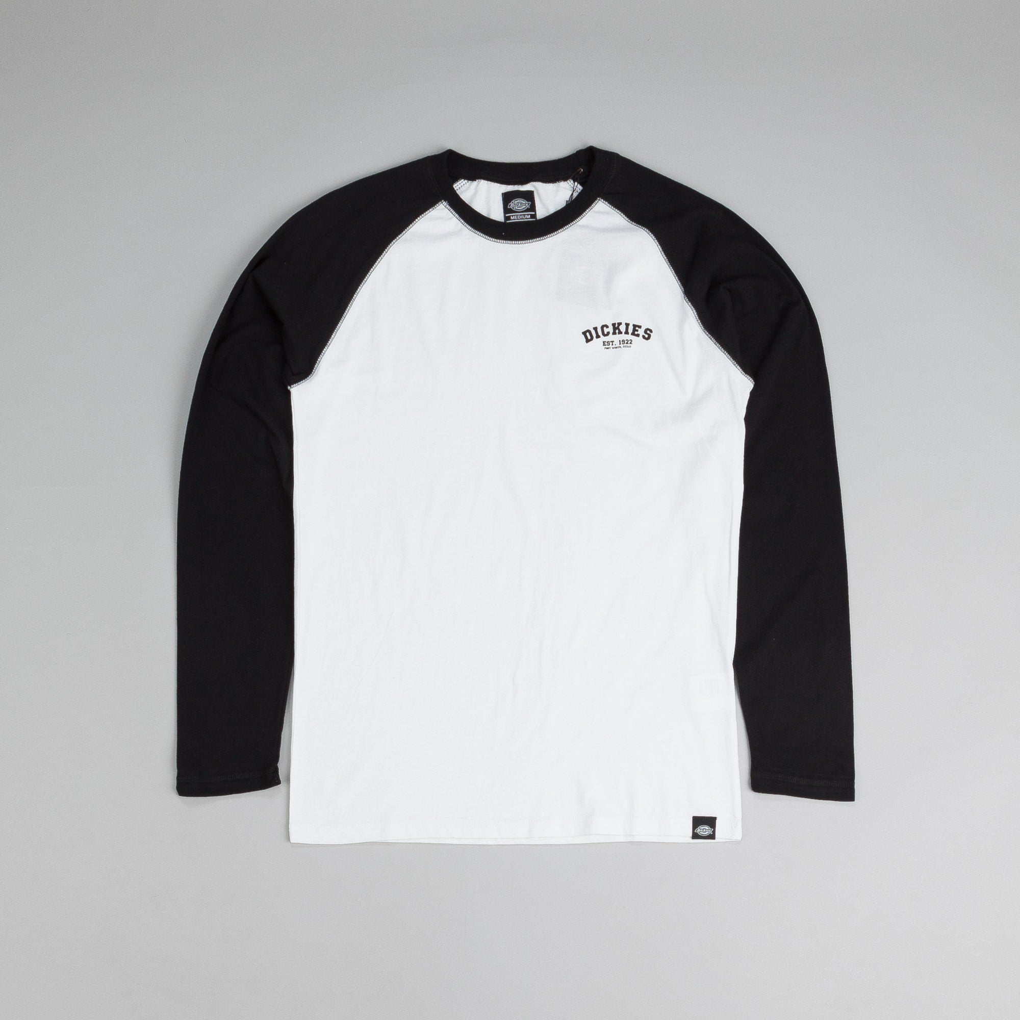 Dickies Baseball Long Sleeve T Shirt Black