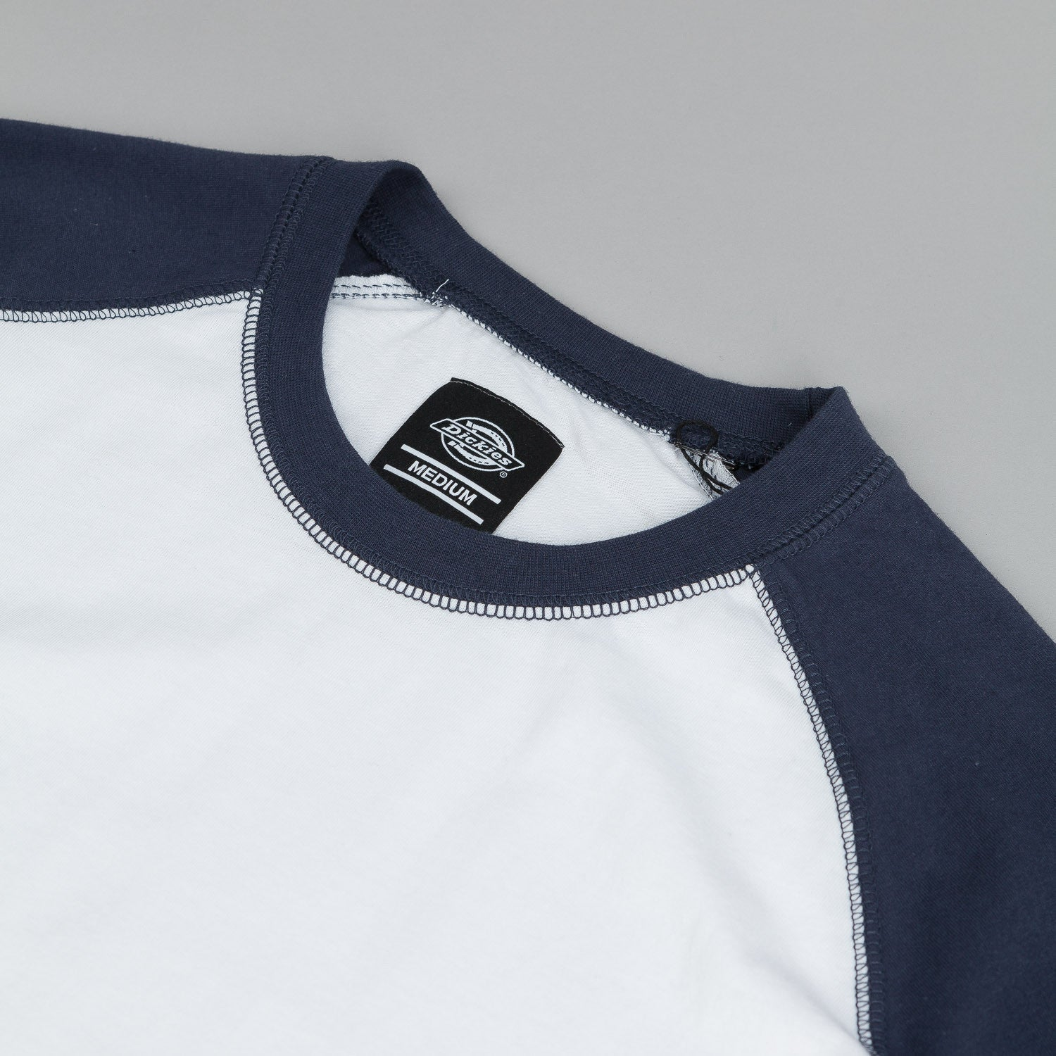 Dickies Destin T-Shirt - White / Navy Blue