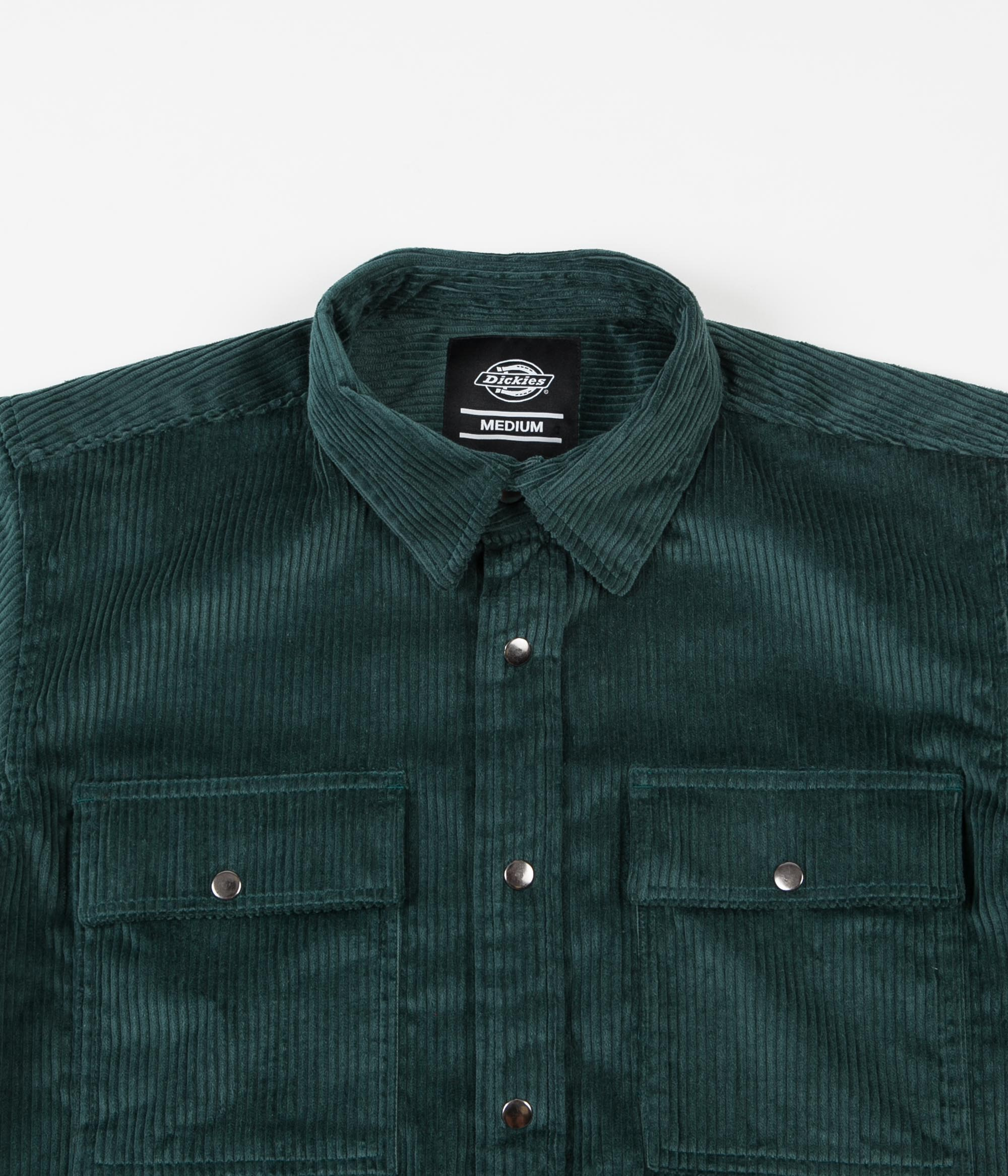 Dickies Ivel Cord Shirt - Forest