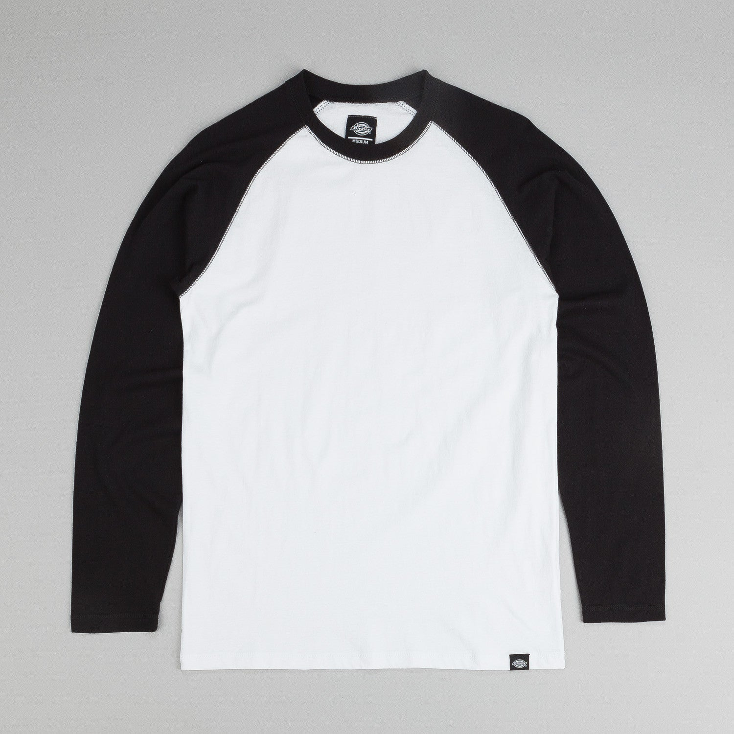 Dickies Lake Worth L/S T-Shirt - White / Black