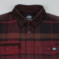 Dickies Lannon Long Sleeve Shirt - Red