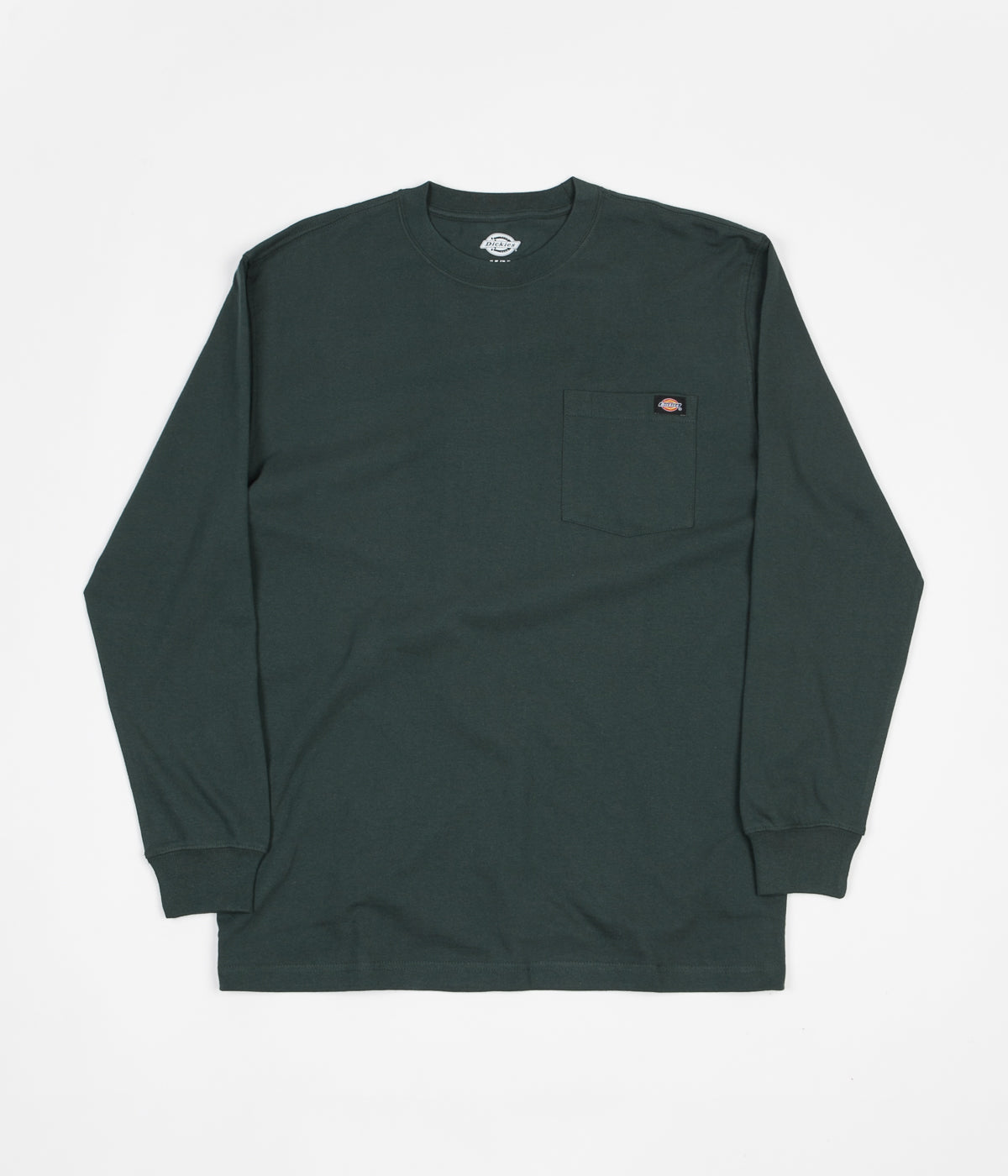 Dickies Long Sleeve Pocket T-Shirt - Hunter Green