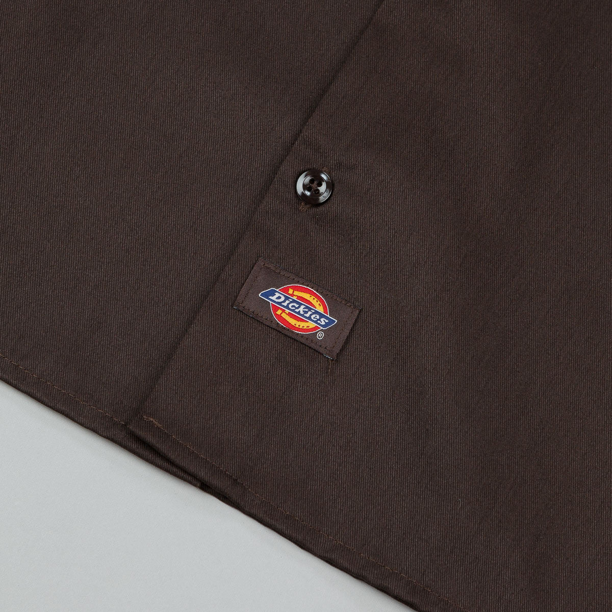 Dickies Short Sleeve Work Shirt - Dark Brown