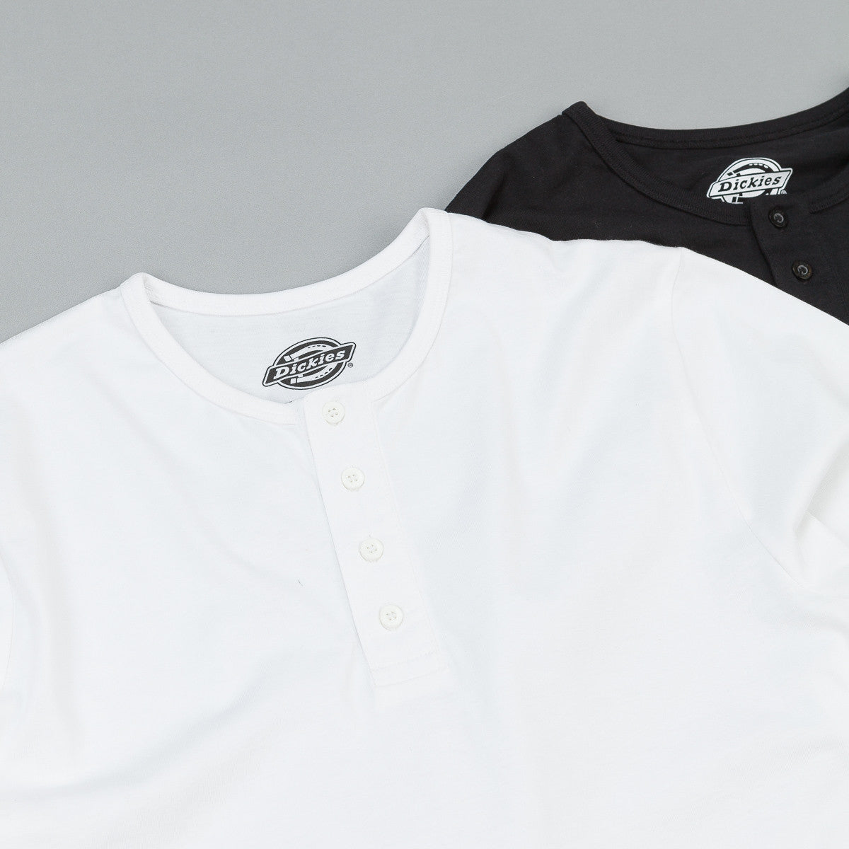 Dickies Seibert Henley Two Pack - Black / White