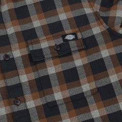 Dickies Woodford Long Sleeve Shirt - Brown Duck