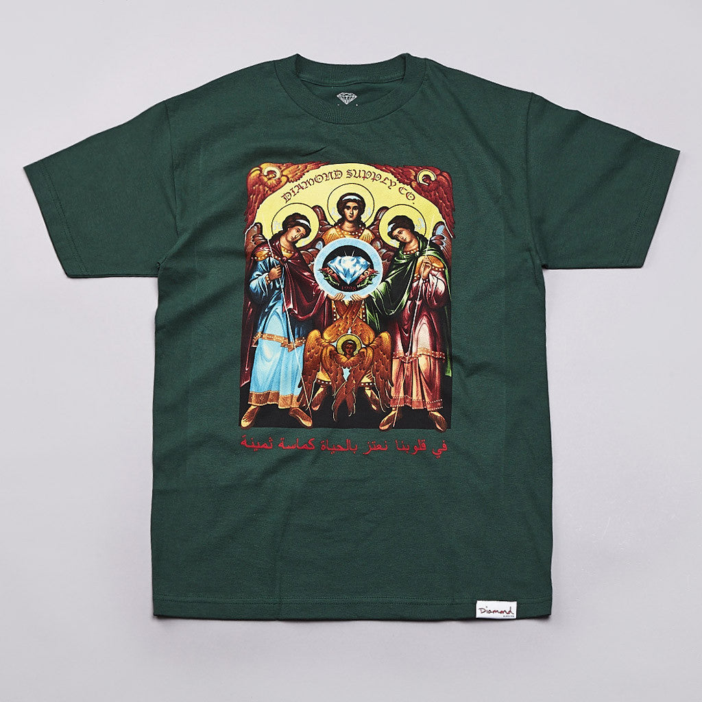 Diamond Archangel T Shirt Hunter Green