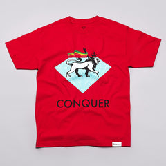 Diamond Conquer T Shirt Red