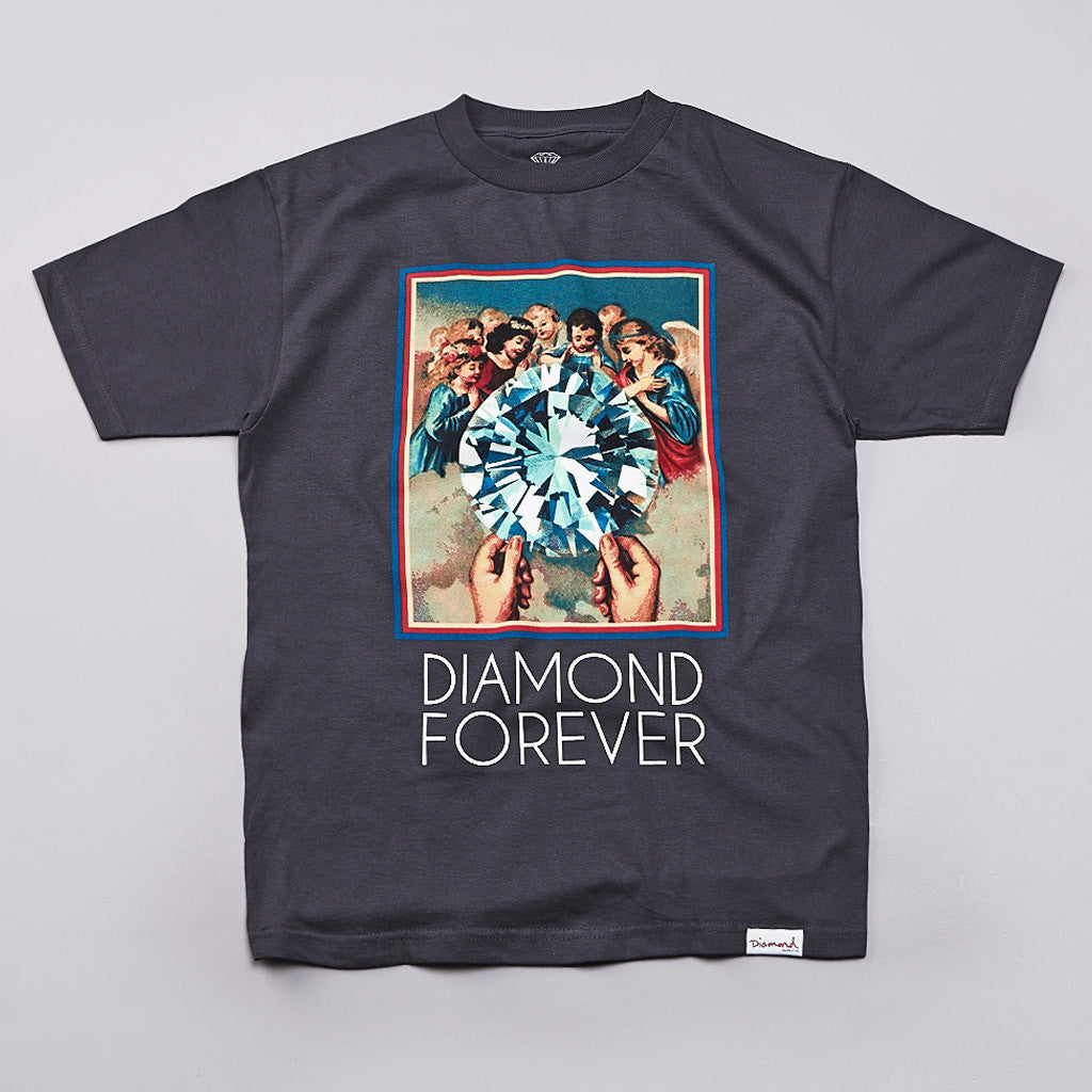 Diamond Forever T Shirt Charcoal