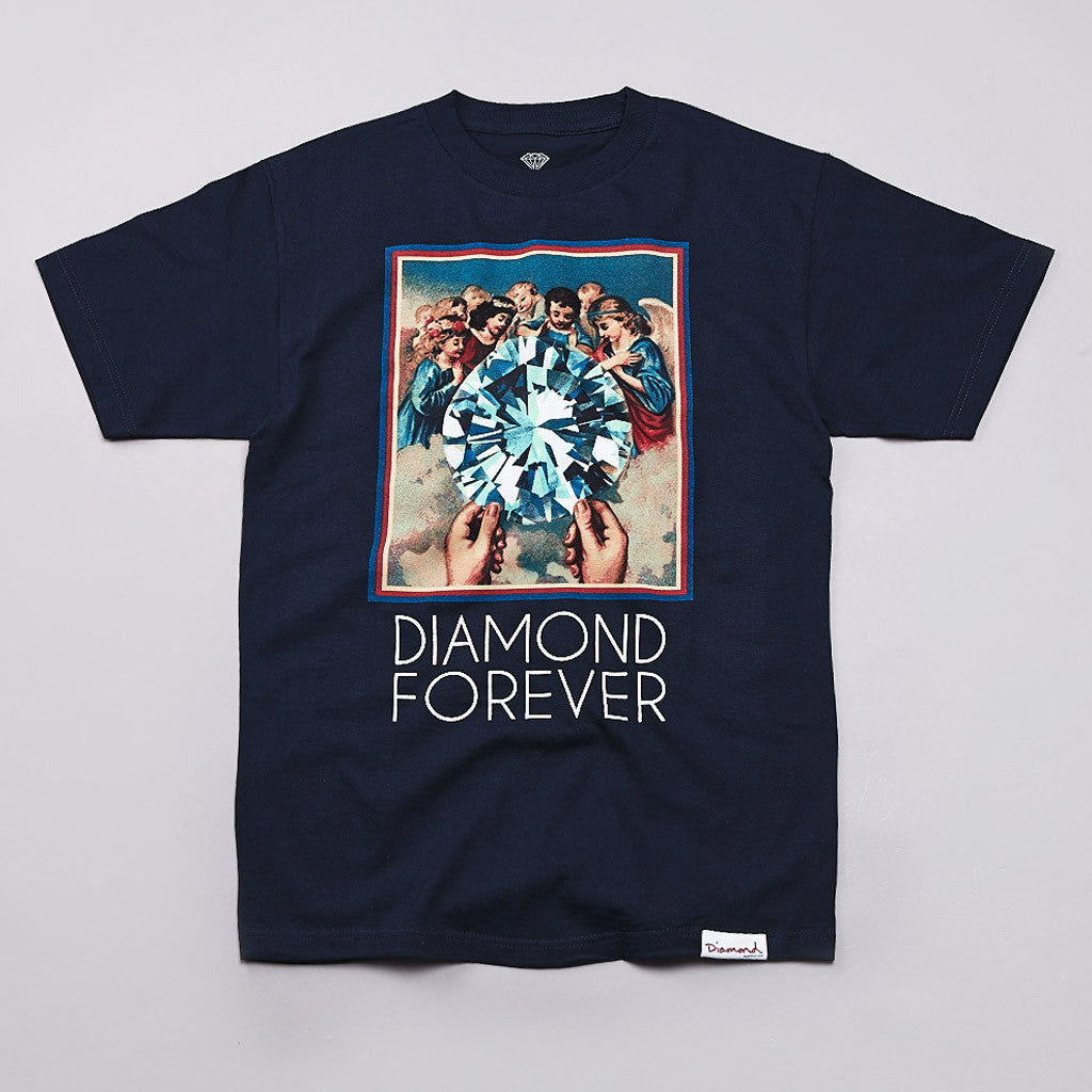 Diamond Forever T Shirt Navy