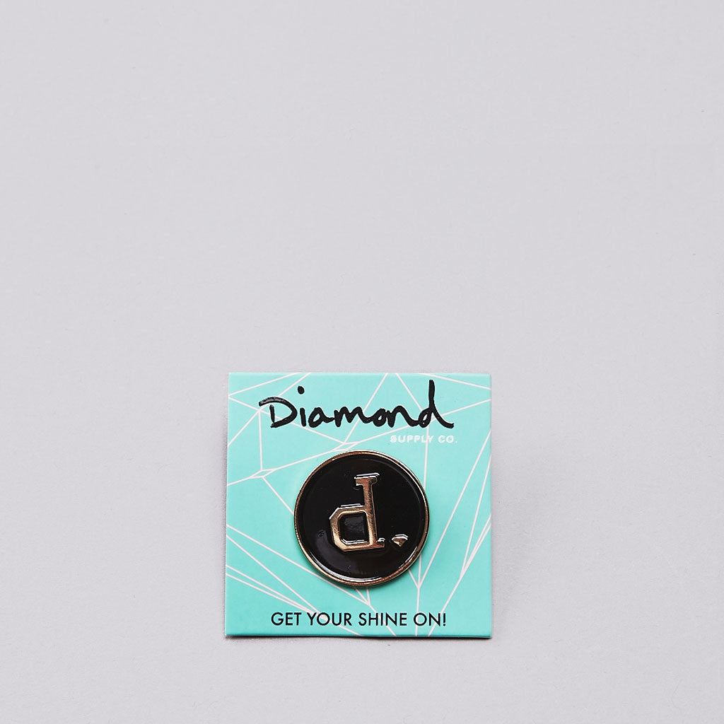 Diamond Unpolo Metal Pin Black / Gold