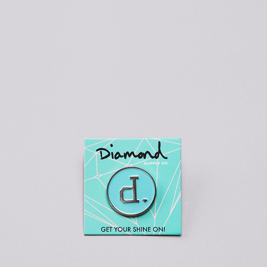 Diamond Unpolo Metal Pin Diamond Blue / White