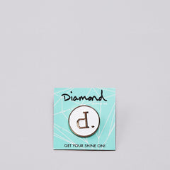 Diamond Unpolo Metal Pin White / Gold