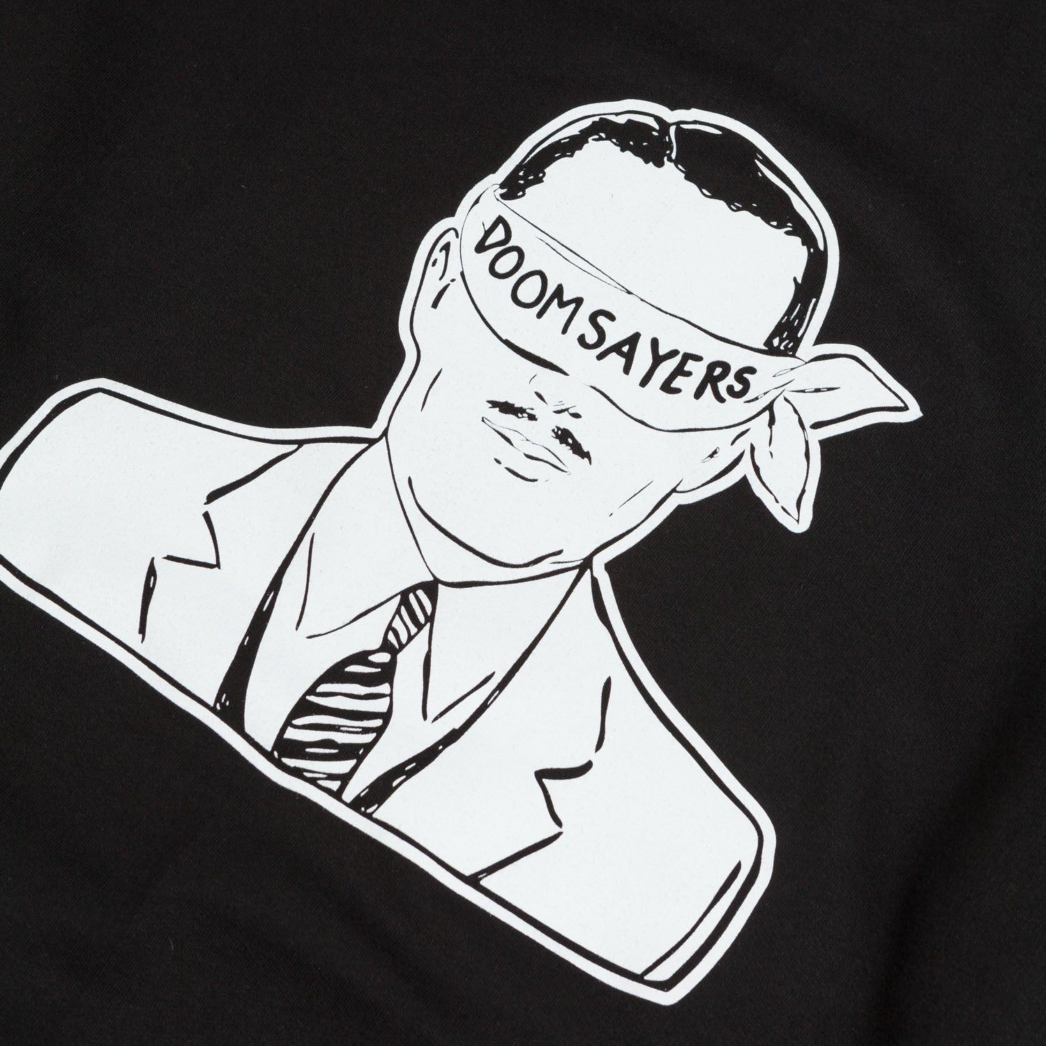 Doom Sayers Corp Guy Hooded Sweatshirt Black / White