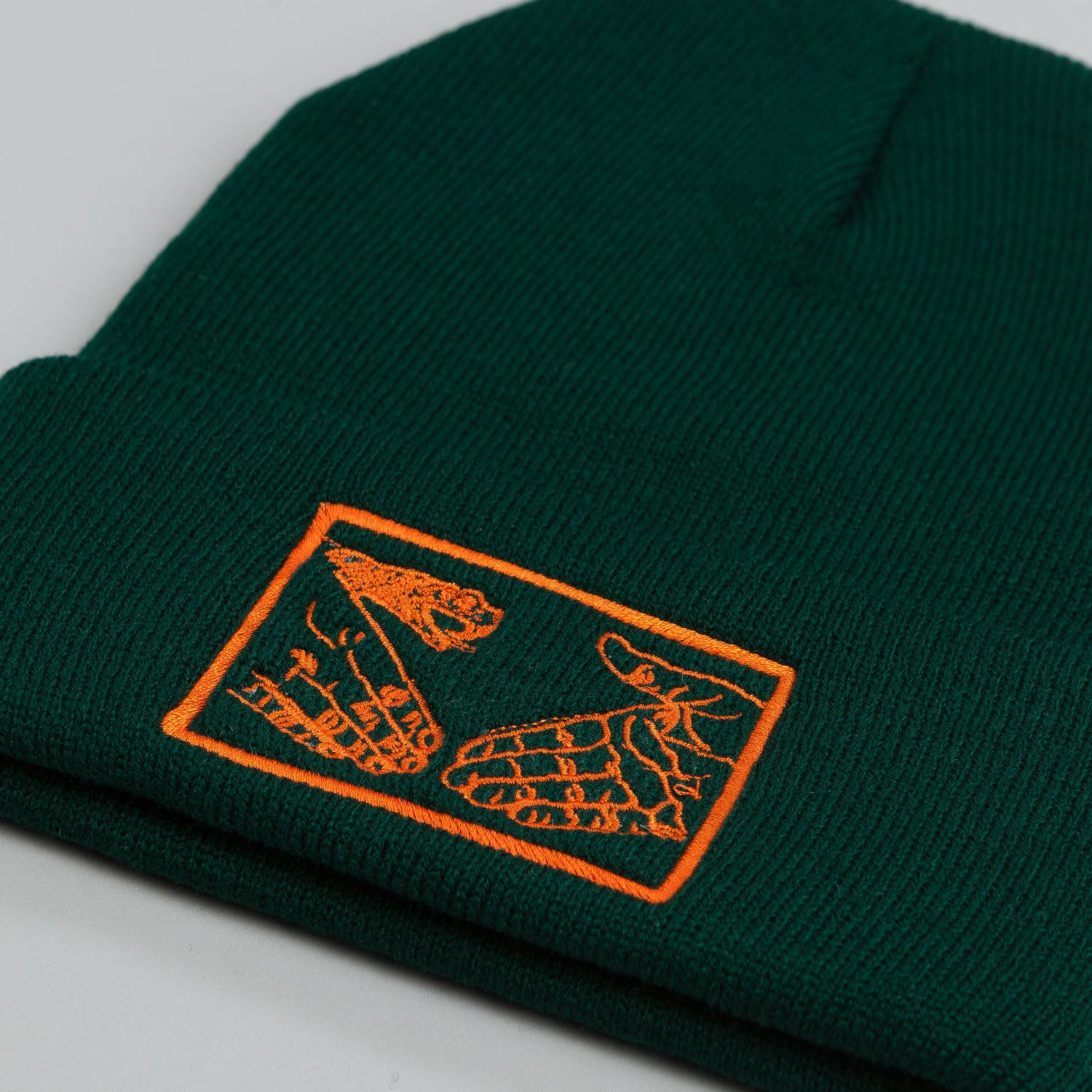 Doom Sayers Snake Shake Beanie Green / Orange