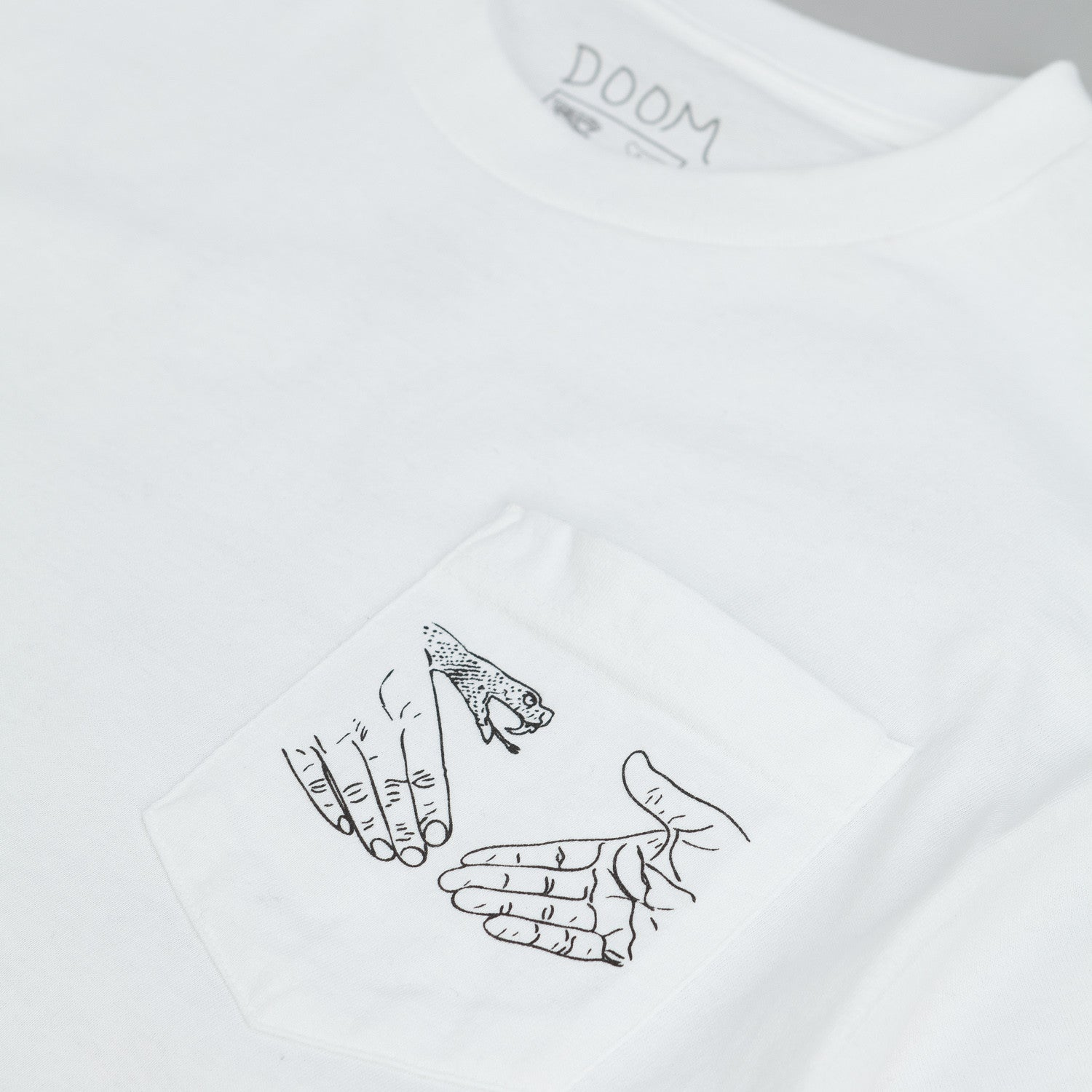 Doom Sayers Snake Shake Pocket T Shirt White