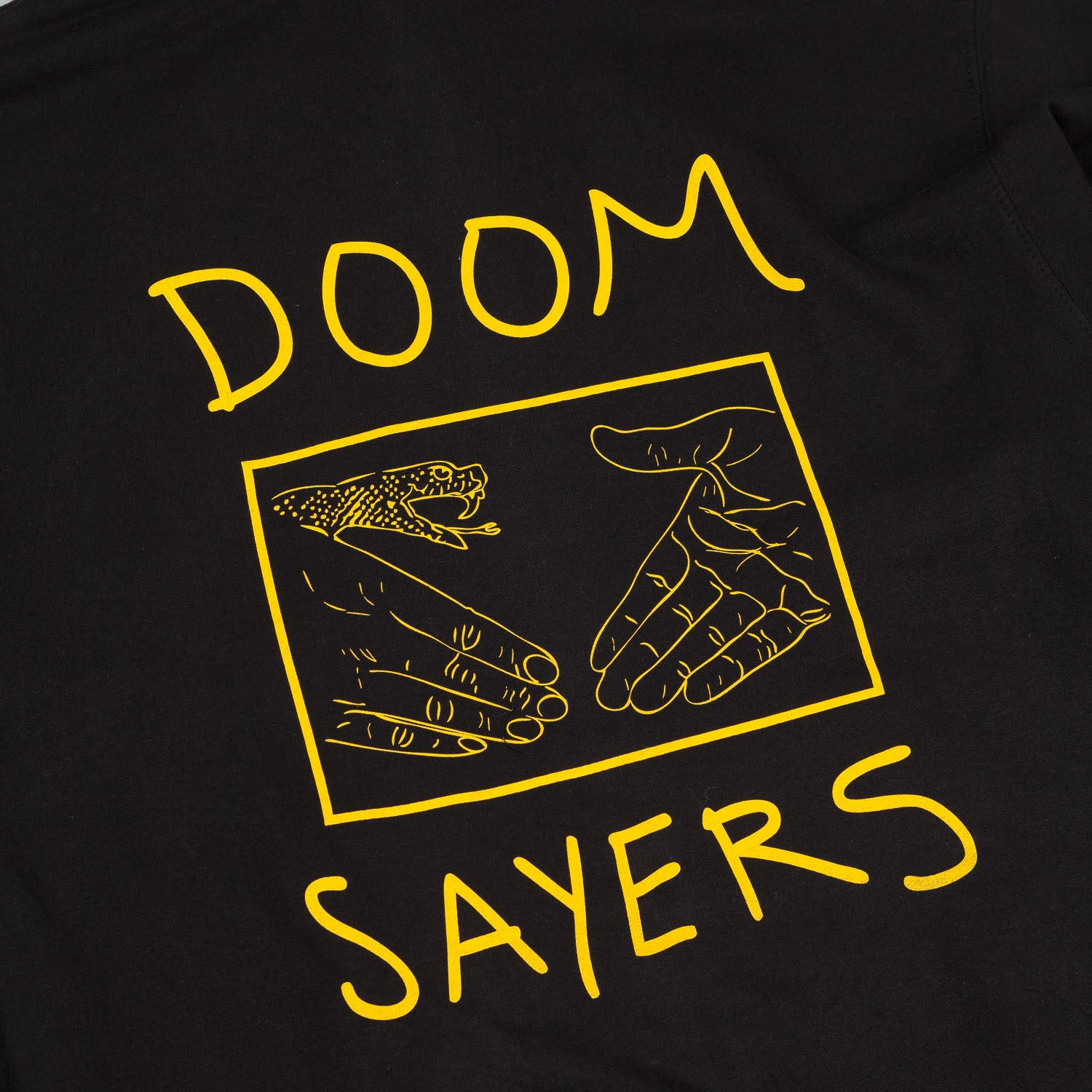 Doomsayers Snake Shake Hooded Sweatshirt Black / Yellow