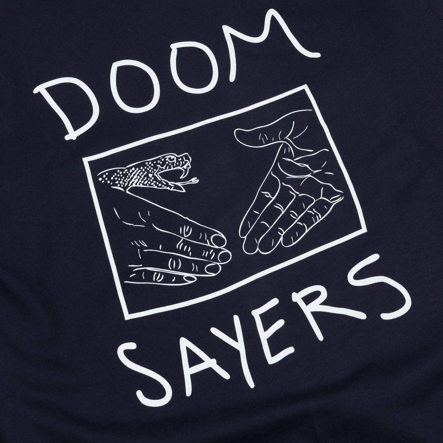 Doomsayers Snake Shake Hooded Sweatshirt Navy
