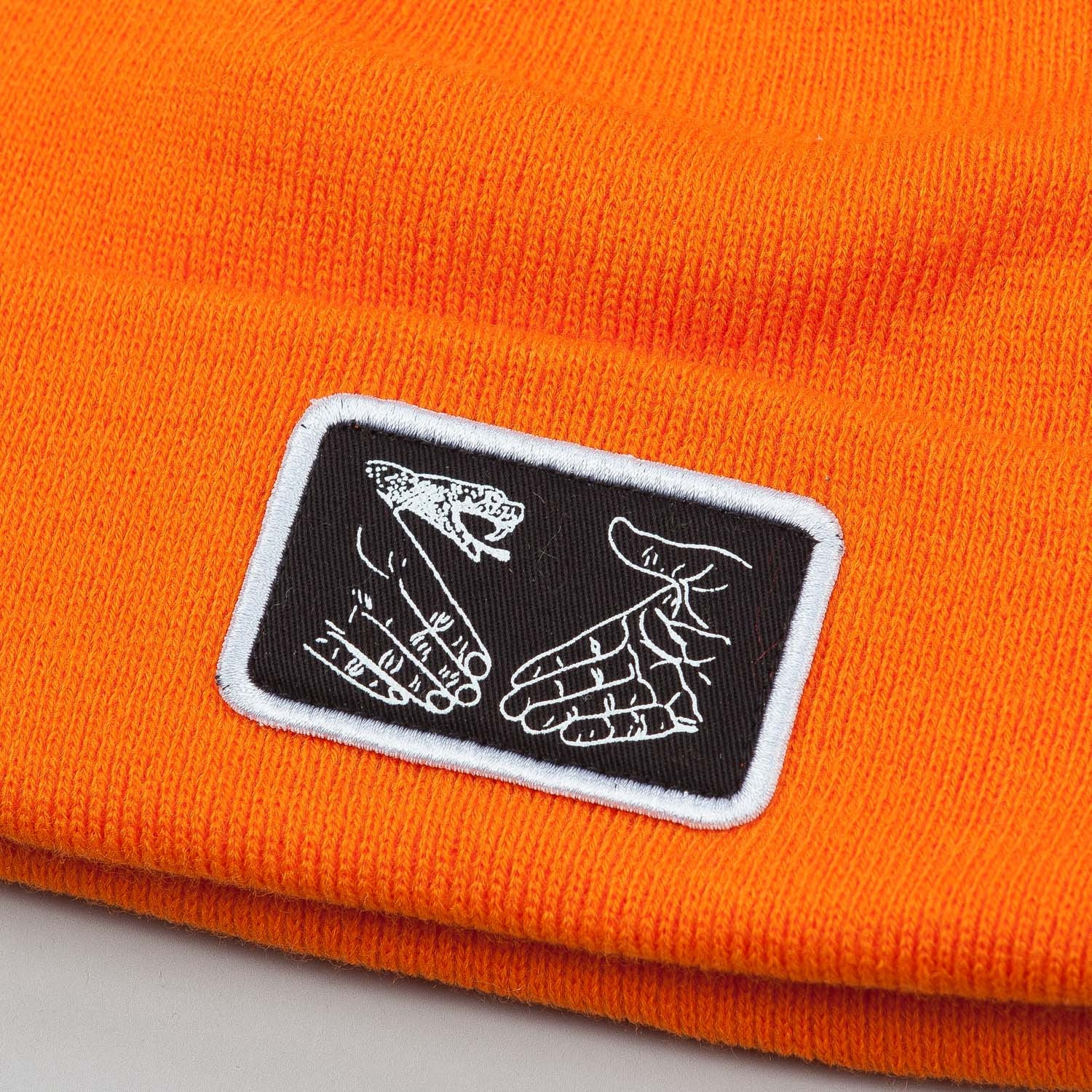 Doom Sayers Snake Shake Patch Beanie - Orange