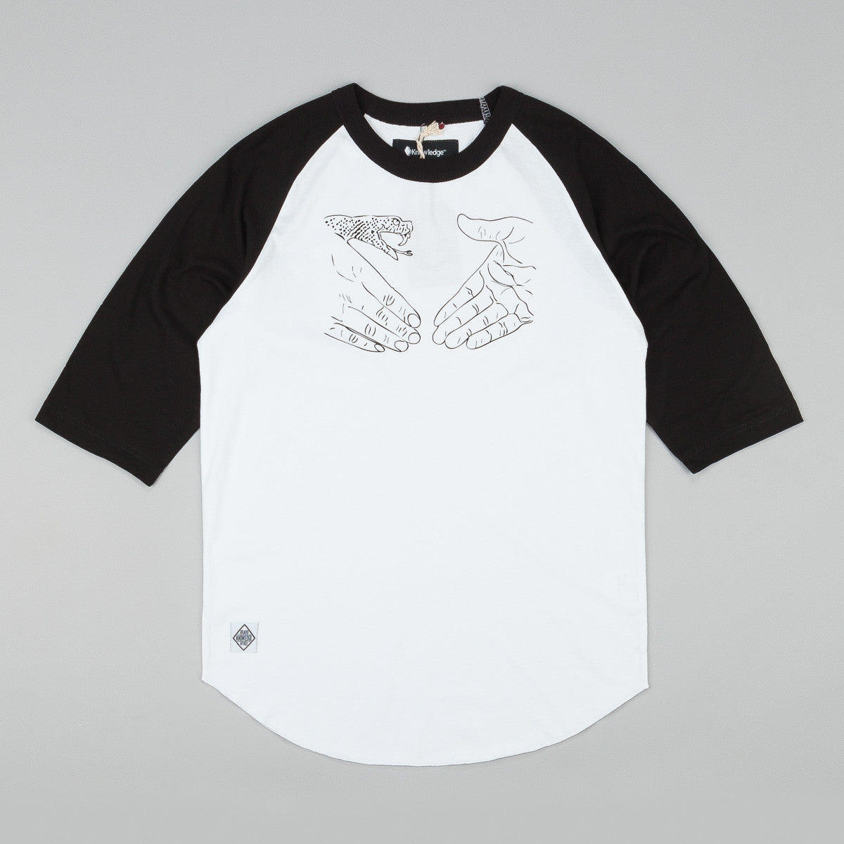 Doom Sayers X Know1edge Snake Shake 3/4 Sleeve Raglan T-Shirt