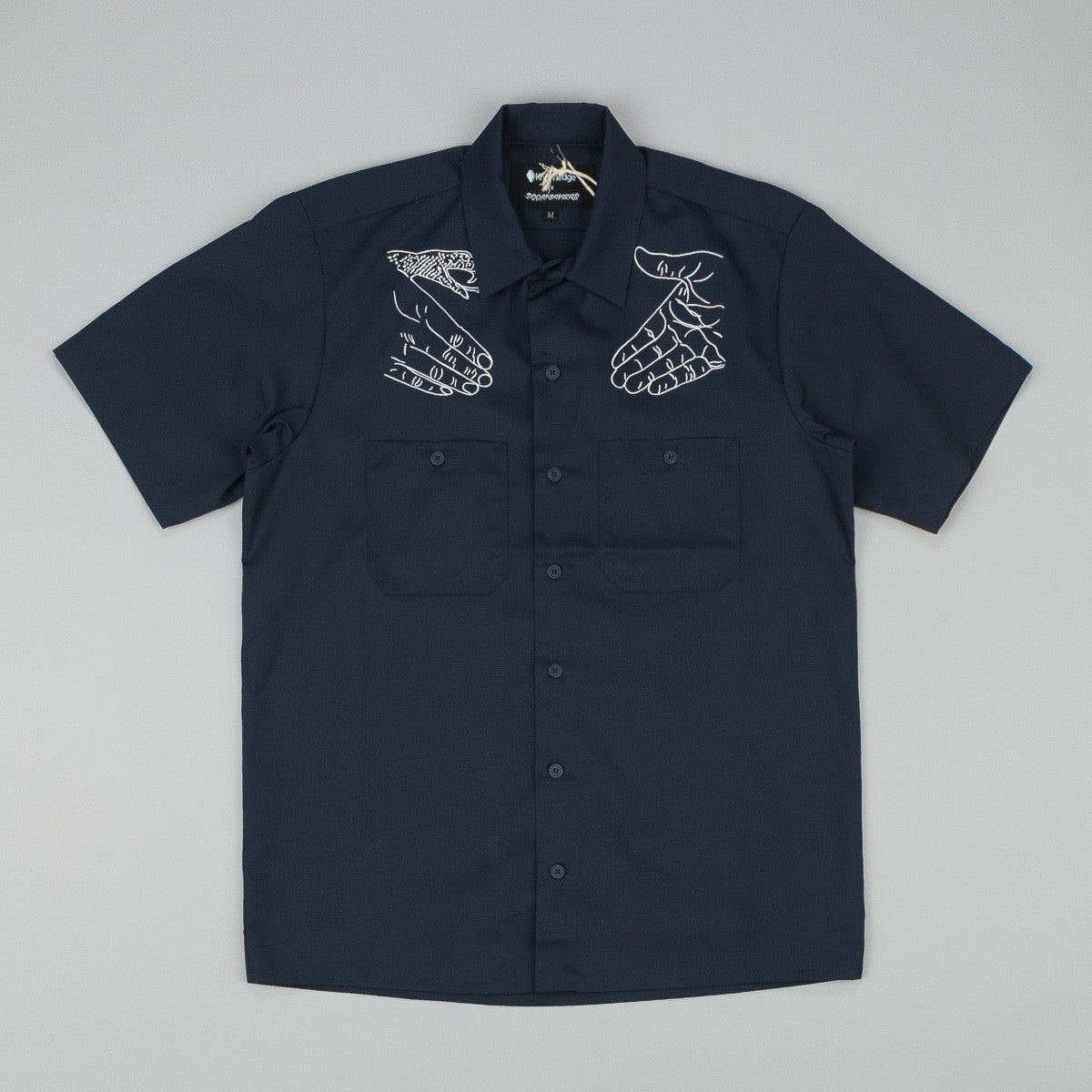 Doom Sayers X Know1edge Snake Shake Button Up S/S Shirt - Navy