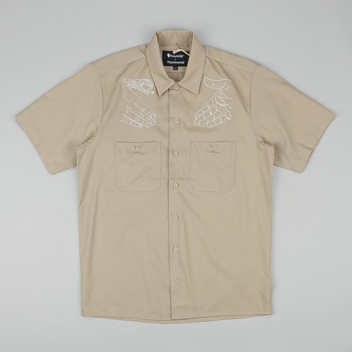 Doom Sayers X Know1edge Snake Shake Button Up S/S Shirt - Tan