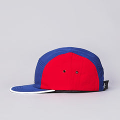 DQM Brunswick Ultrex 5 Panel Camp Cap Blue / Red