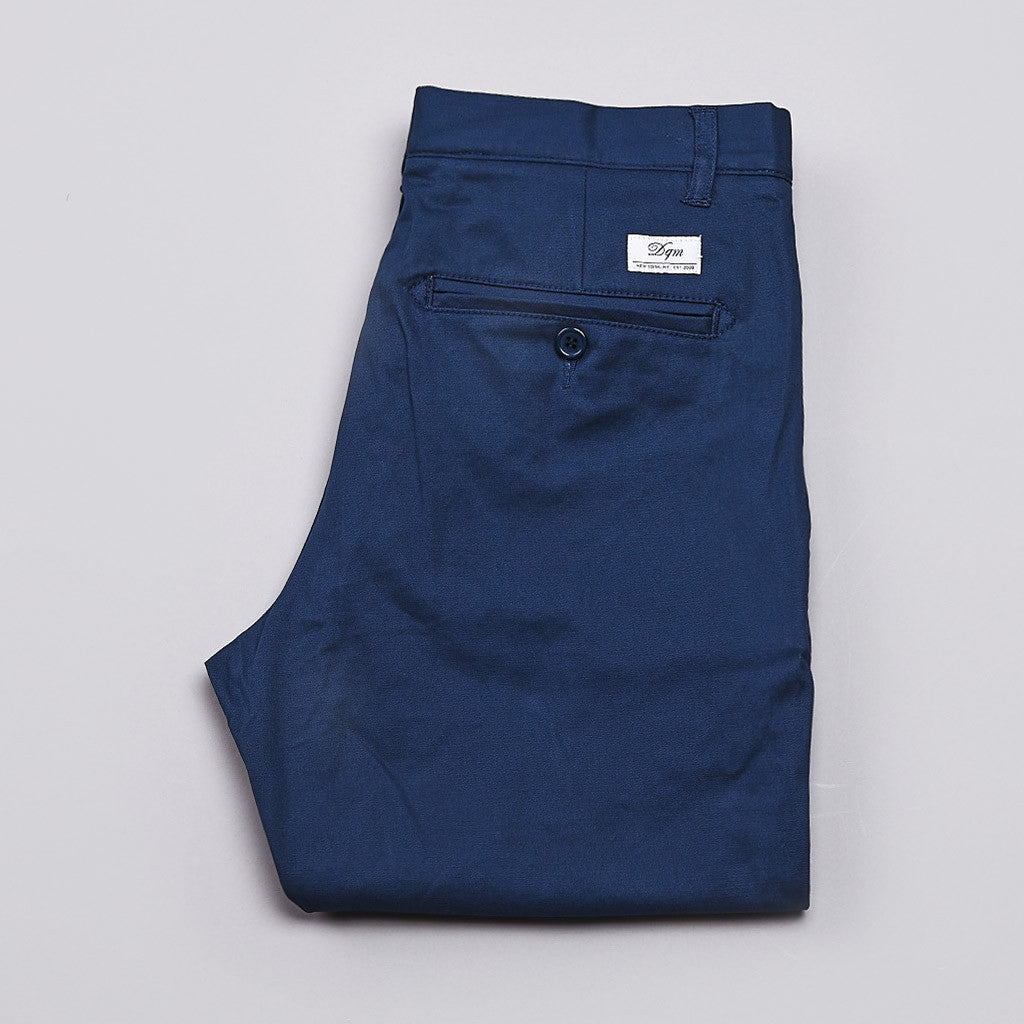 DQM Canyon Chino Pants Petrol Blue