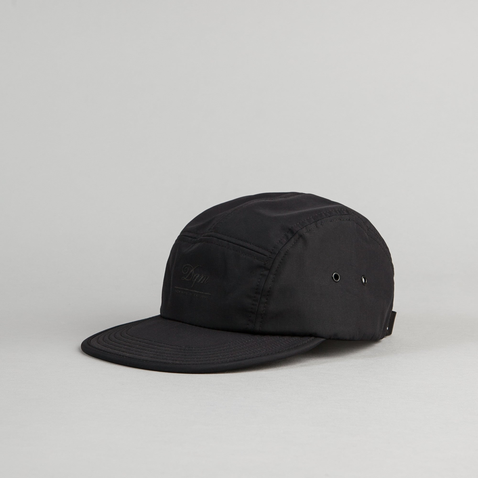 DQM Crushable Nylon Camp Cap - Black