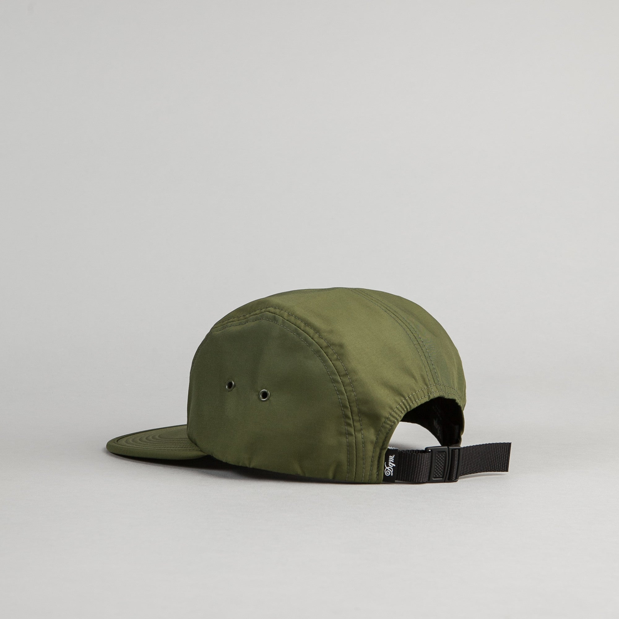 DQM Crushable Nylon Camp Cap - Olive