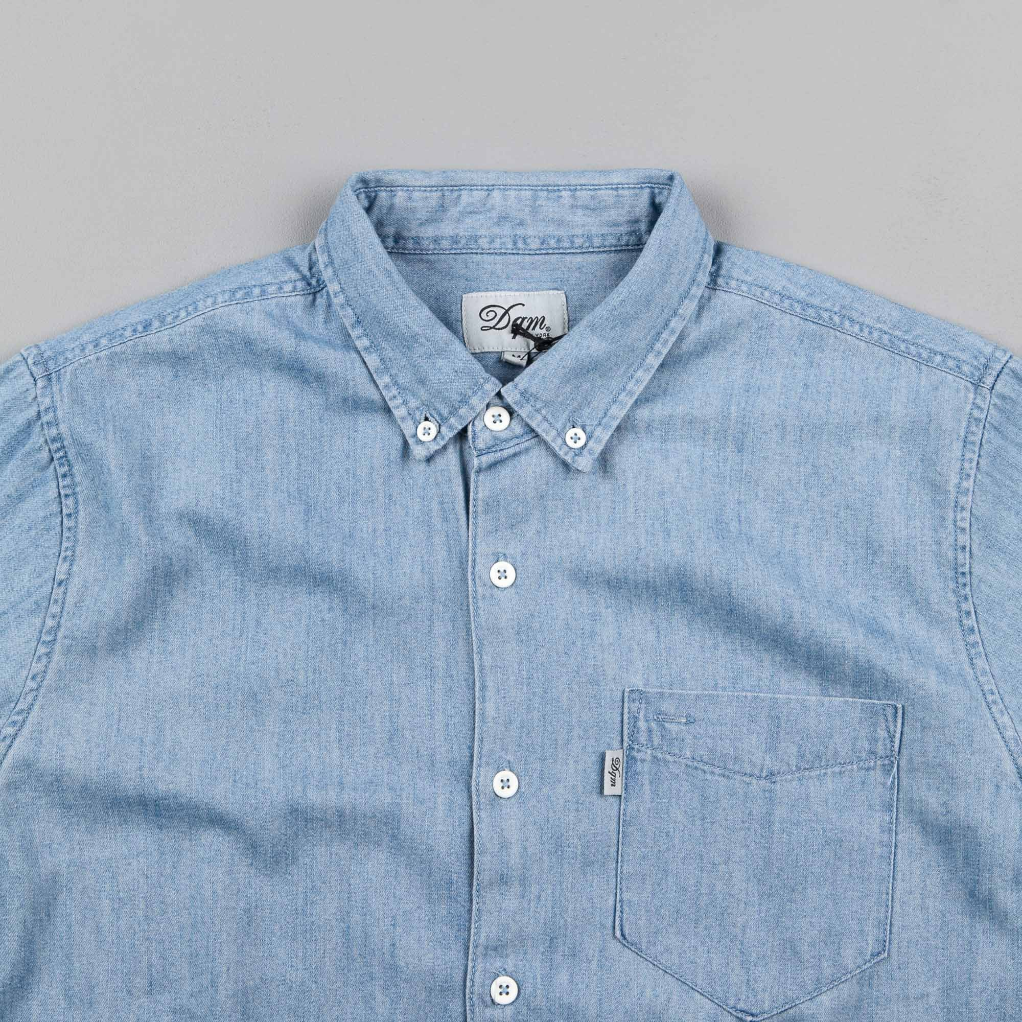 DQM Glaser Chambray Shirt - Light Blue