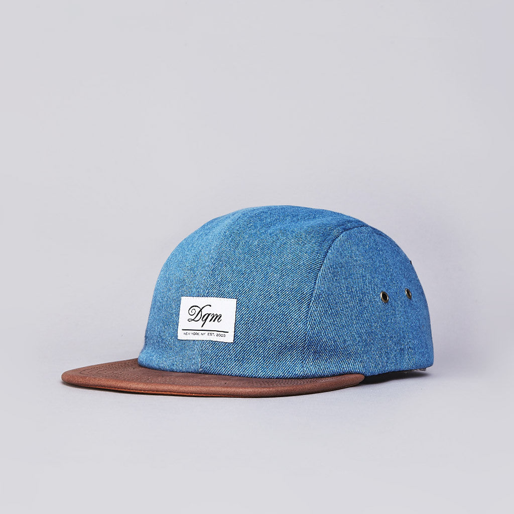 DQM Marsten 4 Panel Camp Cap Stonewash Denim