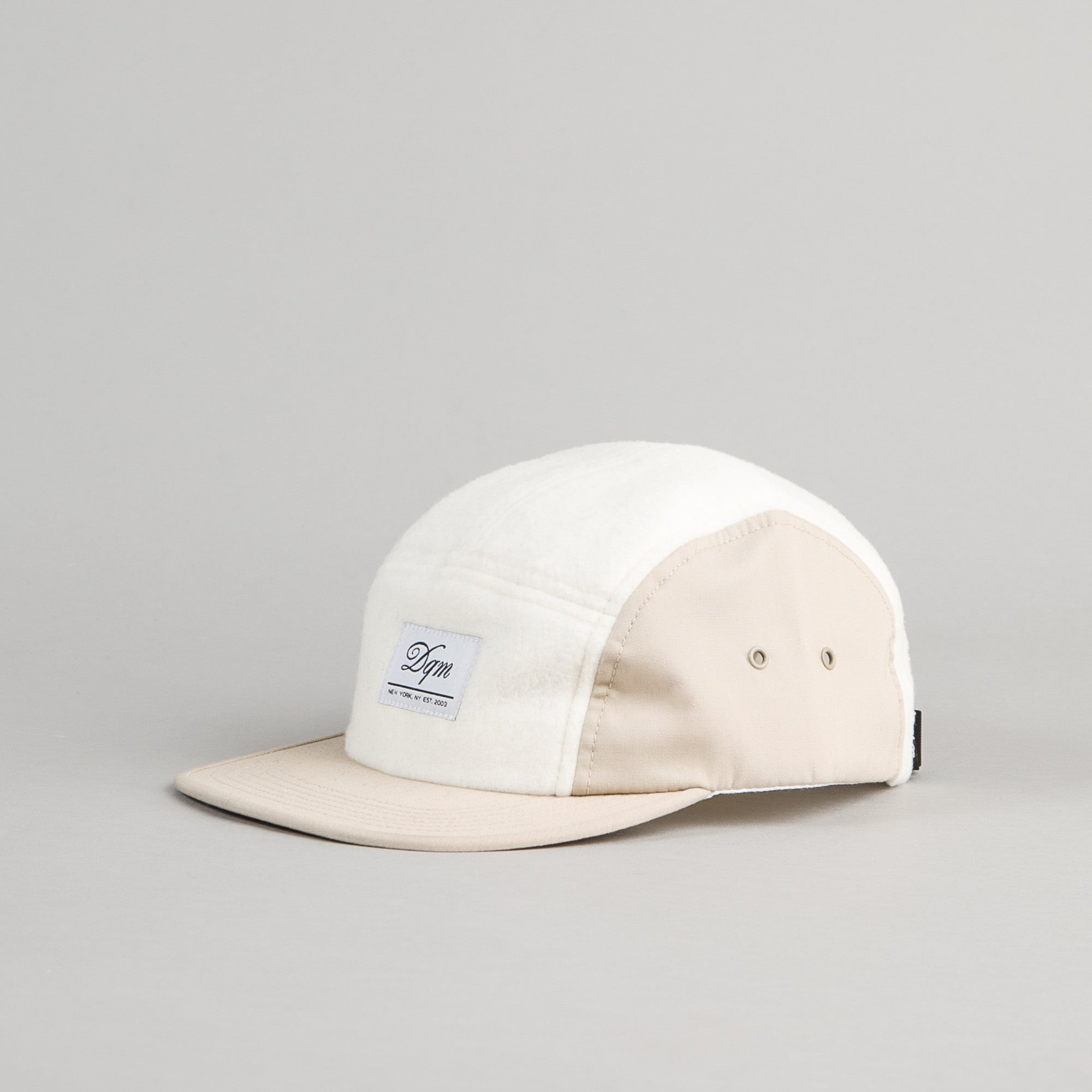 DQM Polar Fleece Camp Cap - Off White
