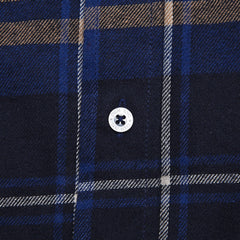 DQM Steamer Plaid Flannel Shirt Blue
