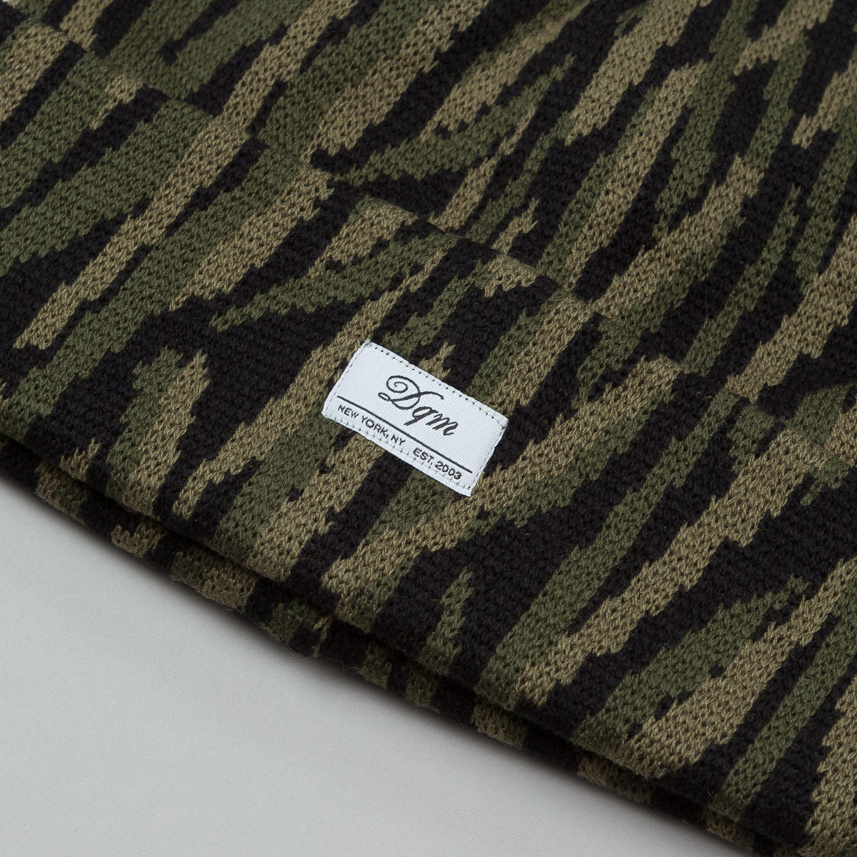 DQM Tiger Striped Camo Beanie Olive