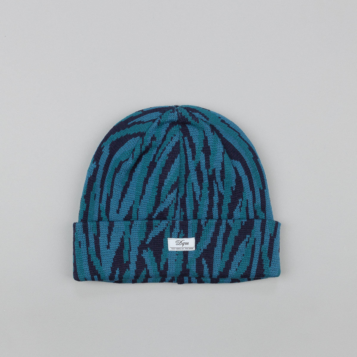 DQM Tiger Striped Camo Beanie Teal