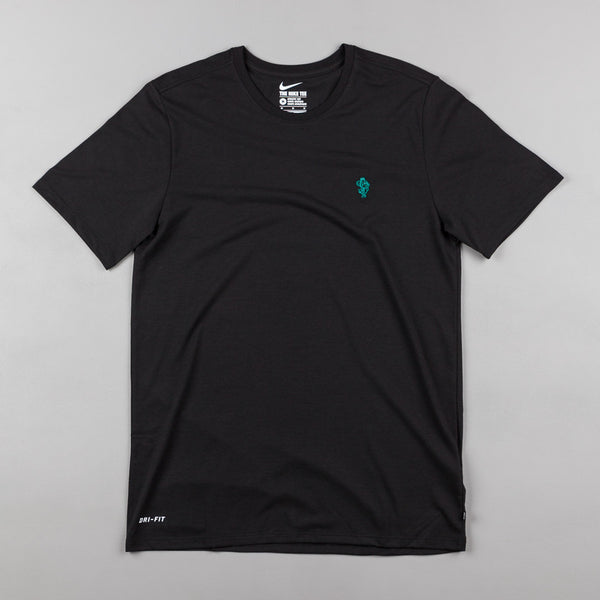 Nike SB Mouse T-Shirt - Black / Black / Rio Teal