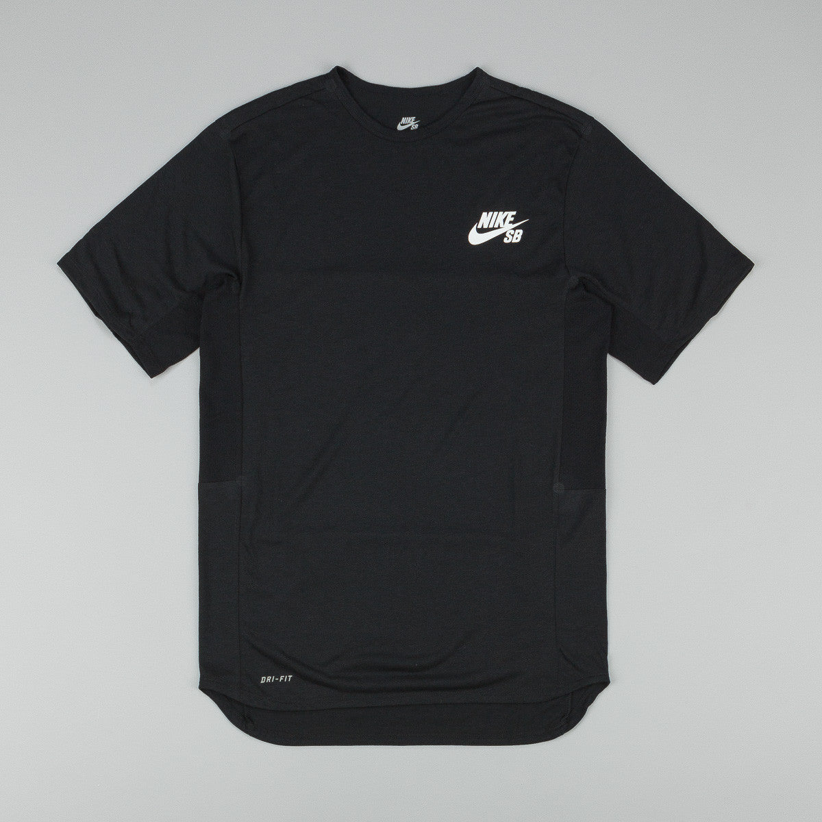 Nike SB Dri-Fit Skyline Crew T-Shirt - Black / White