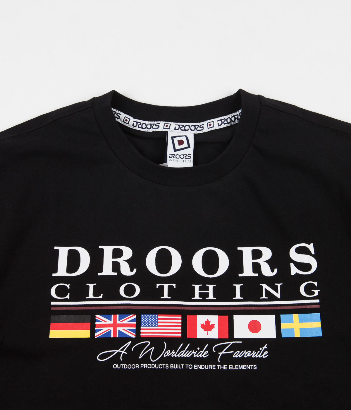 Droors Worldwide Favourite T-Shirt - Jet Black