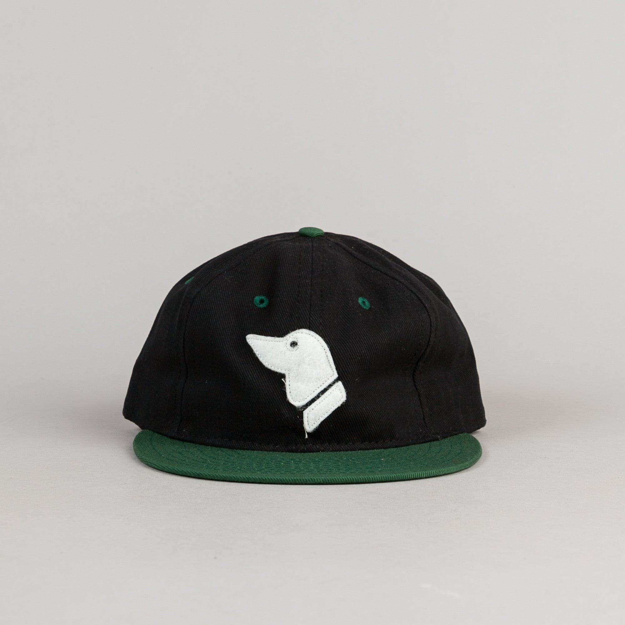 Ebbets Field Flannels Barbers Point Pointers Twill Cap - Black / Dark Green