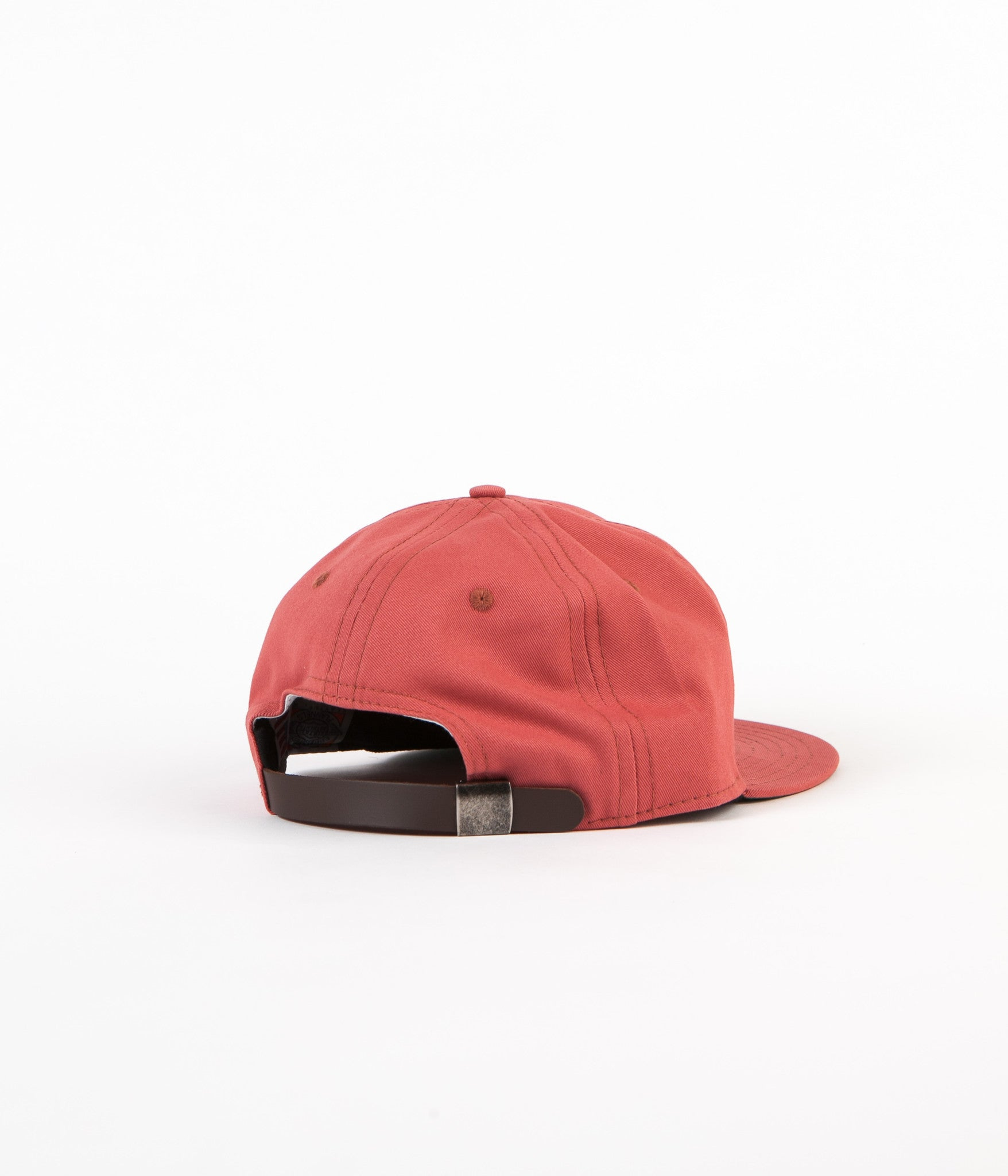Ebbets Field Flannels Brushed Chino Twill 6 Panel Cap - Nautical Red