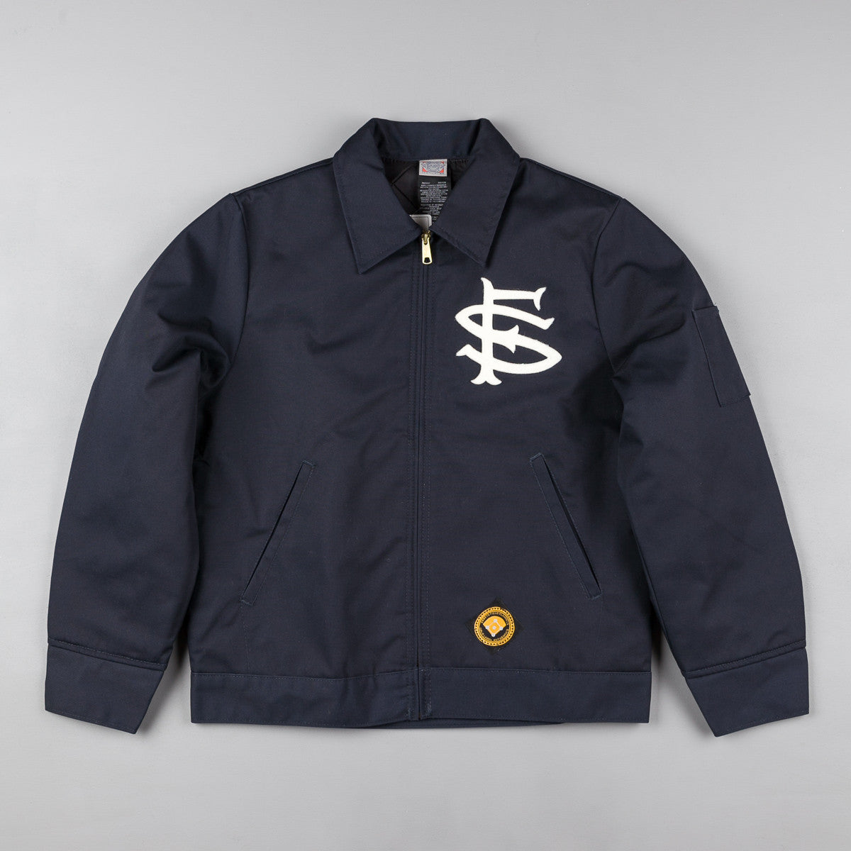 Ebbets Field Flannels San Francisco Seals Grounds Crew Jacket - Navy