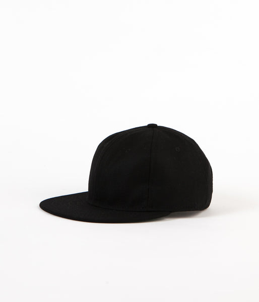 Ebbets Field Flannels Wool 6 Panel Cap - Black