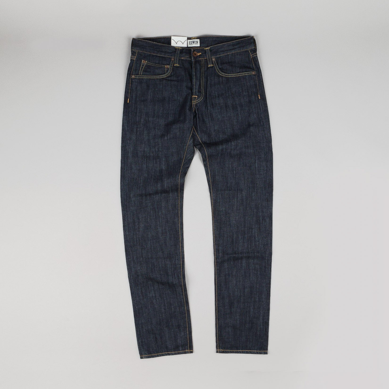 Edwin ED-55 Jeans Dark Blue Denim Rinsed