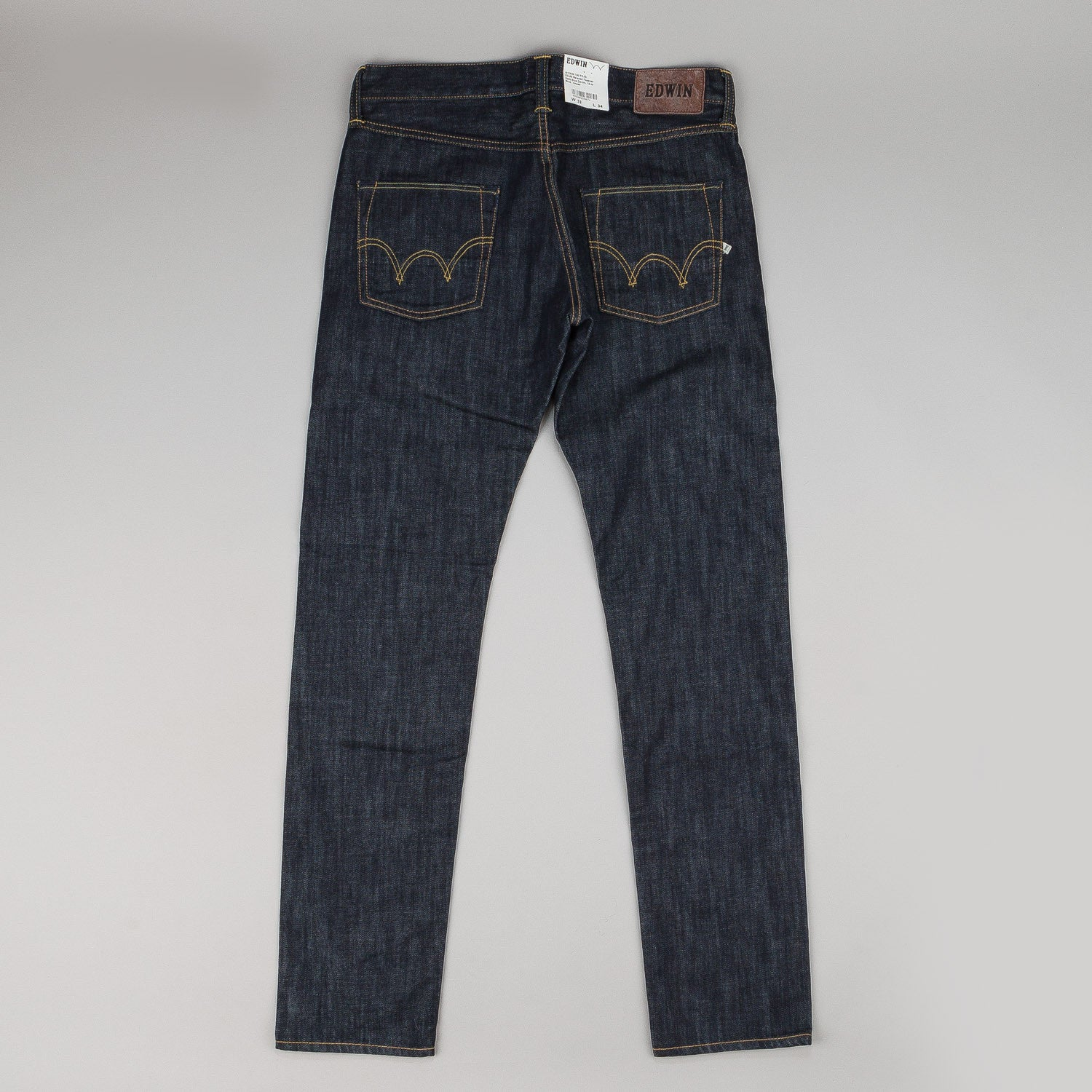 Edwin ED-55 Jeans - Dark Blue Denim Rinsed