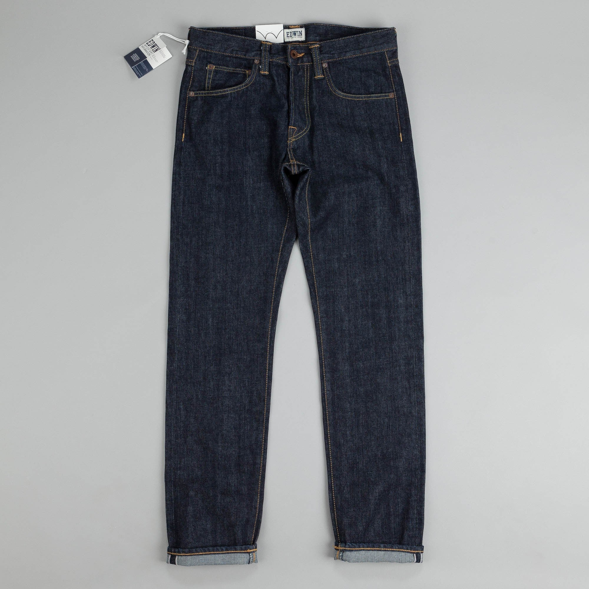 a116ddcd ... Edwin ED-55 Relaxed Tapered Red Listed Selvage Jeans Blue Rinsed ...