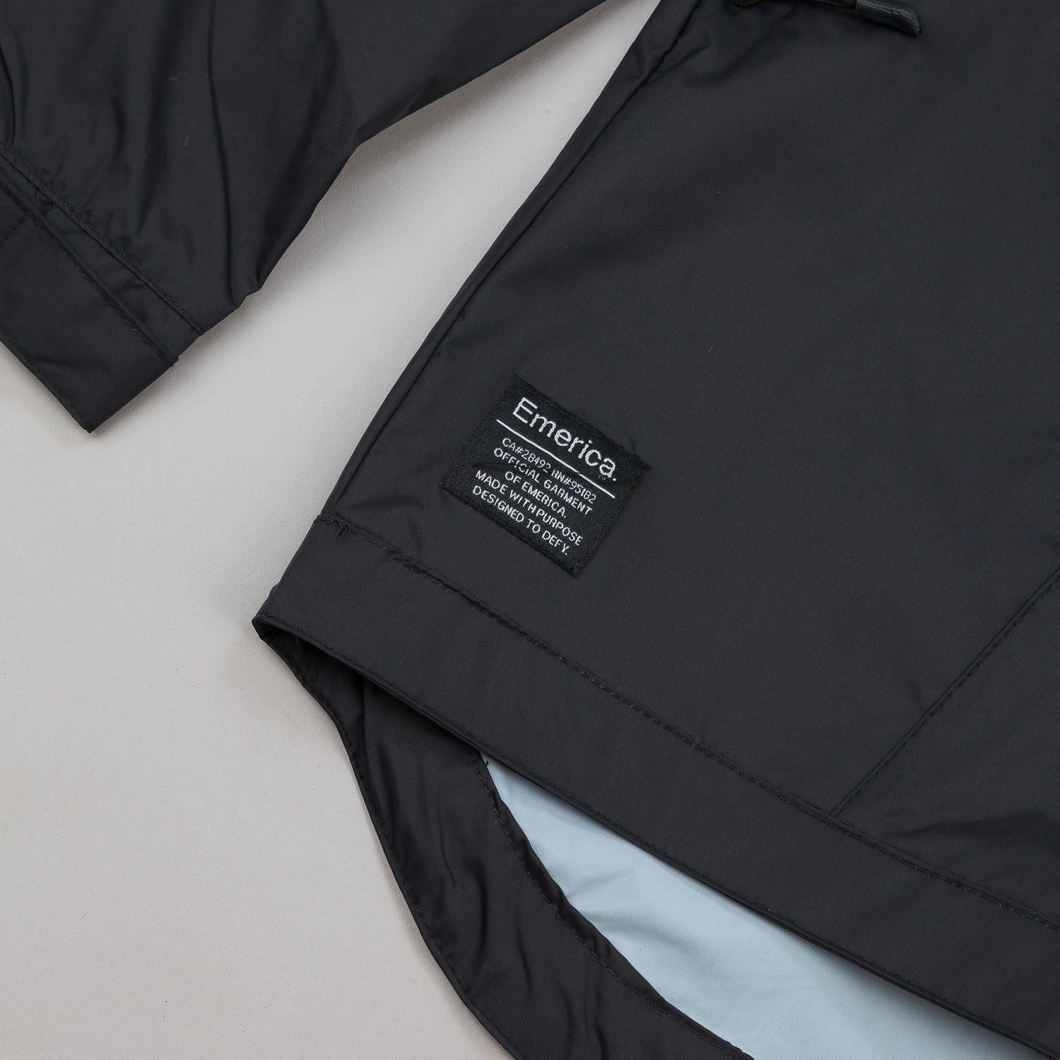 Emerica Skann Windbreaker Jacket - Black
