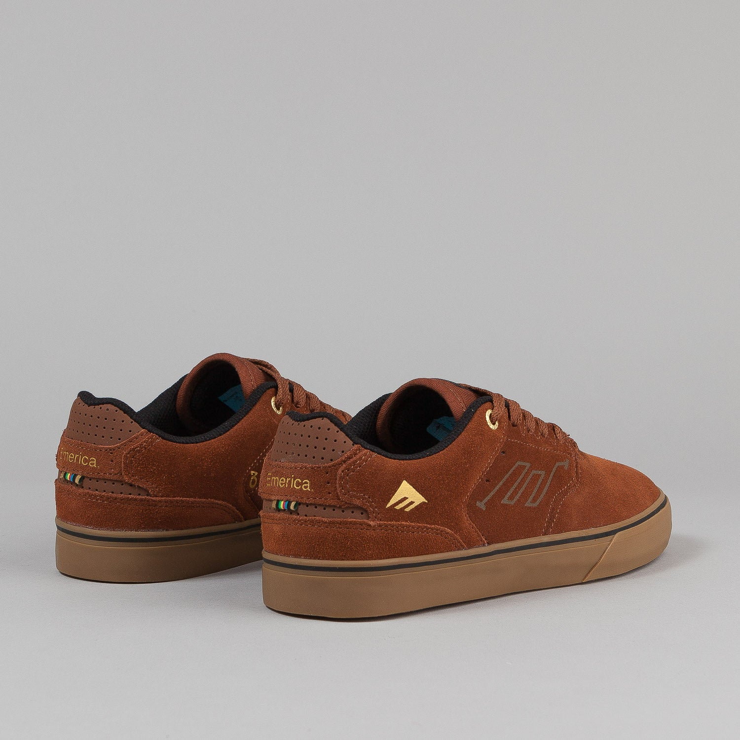 Emerica The Reynolds Low Vulc X Stay Flared Shoes - Brown / Gum