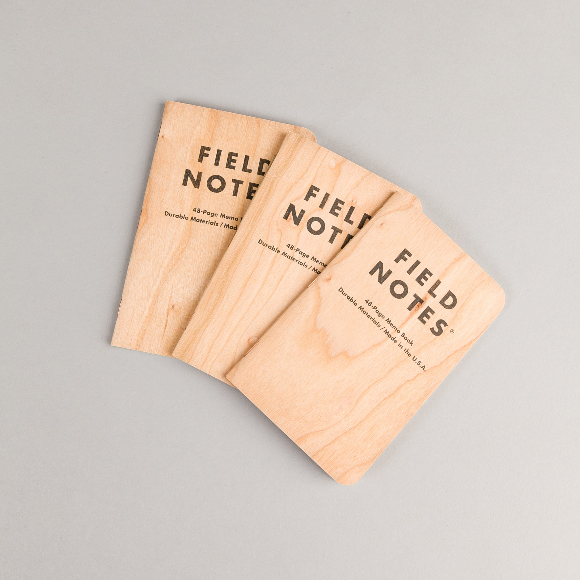 Field Notes Graph Paper Notebooks - Cherry Wood